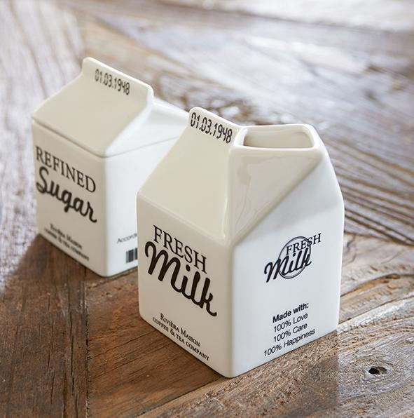 Carton Jar Milk Riviera Maison