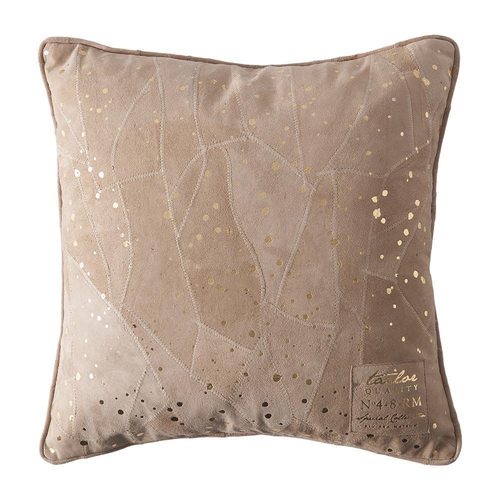 Sparkle Spot Leather Pillow cover gold 40x40 Riviéra Maison