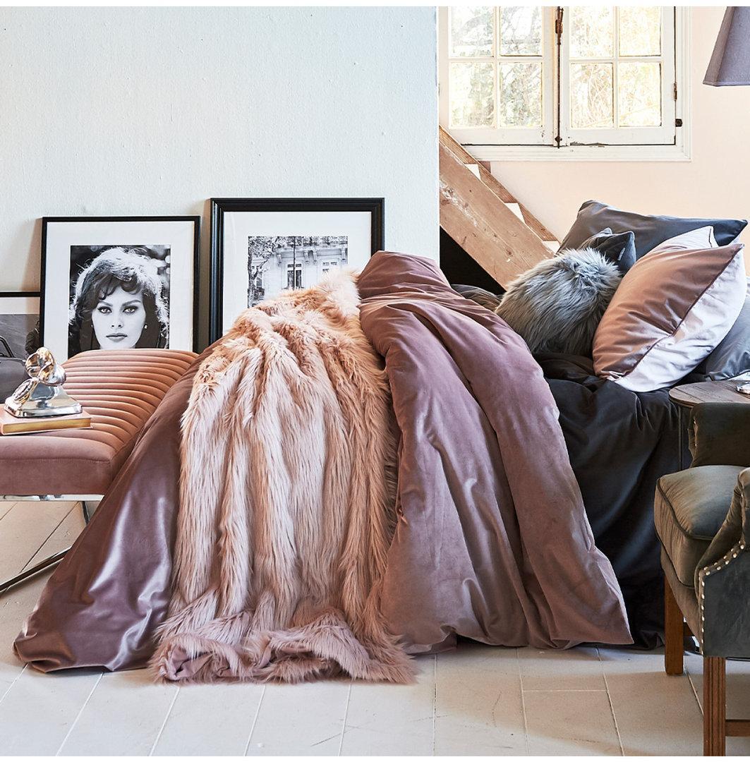 RM Estate Duvet cover purple 140x200/220 + 60x70cm Riviéra Maison