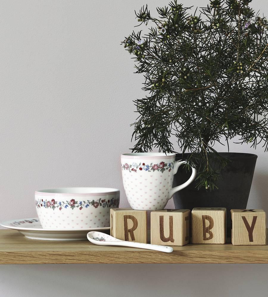 Bowl Ruby petit white Greengate