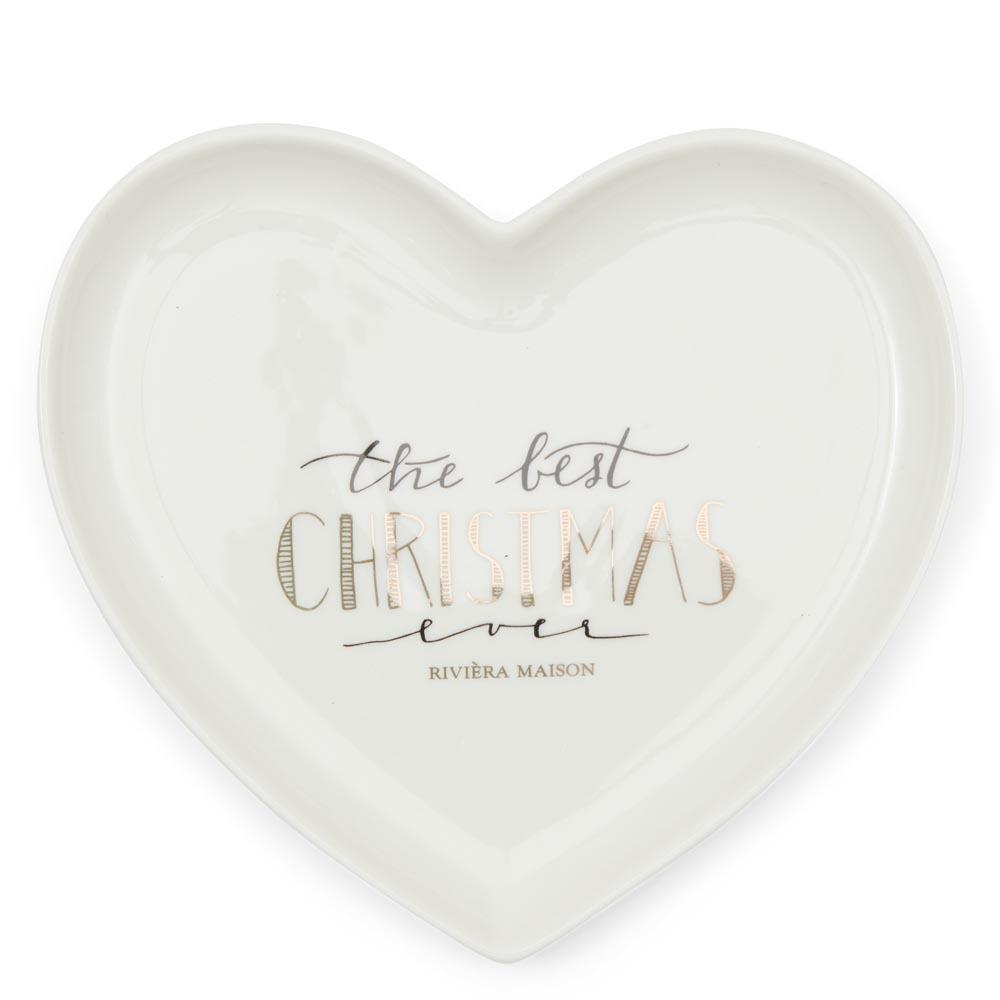 Merry Christmas Heart Plate S Riviéra Maison