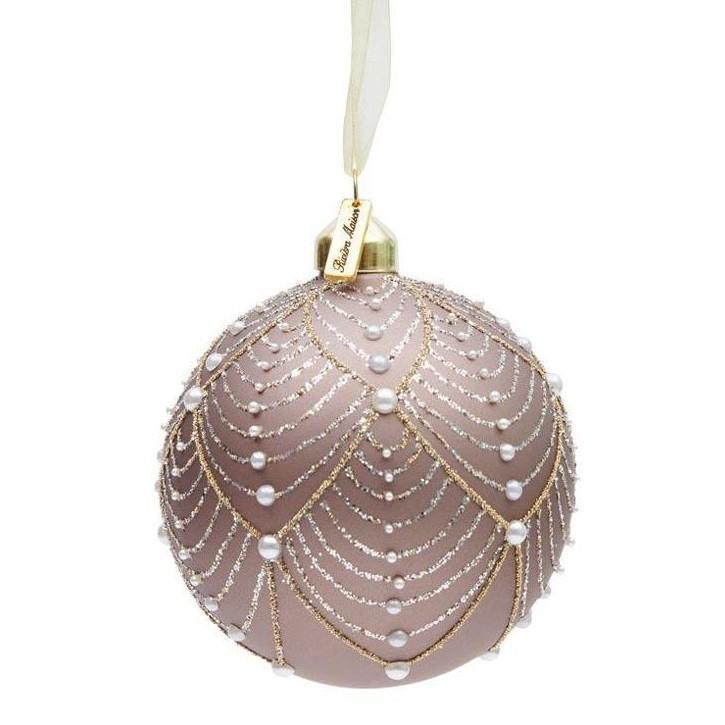 Ballad Mauve Pearl Ornament 10cm Riviéra Maison